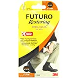 Futuro Restoring Dress Socks for Men, Black, Extra Large, Firm (20-30 mm/Hg)