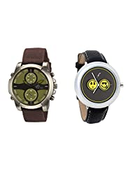 Gledati Men's Green Dial & Foster's Women's Grey Dial Analog Watch Combo_ADCOMB0002170