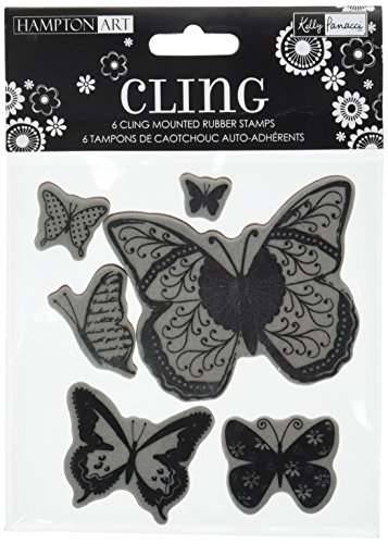 Hampton Art Butterflies Rubber Stamp