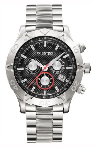 Valentino Homme Chronograph Stainless Steel Mens Watch Calendar Black Dial V40LCQ9909-S099
