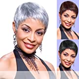 Foxy Silver Synthetic Wig - Mary