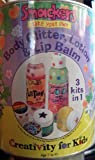 SMACKERS Make Your Own Cosmetics 3 Kits in 1 Paint Can Includes Body Glitter, Lotion & Lip Balm