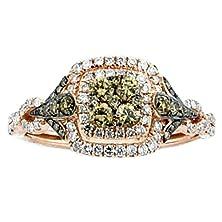buy Rose Gold Cognac Diamond Wedding Ring 7/10Cttw 10Mm Wide Vintage (0.7Cttw)