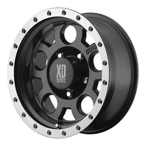 KMC Wheels XD Series  XD125 Matte Black Wheel with Machined Bead Ring (17x9
