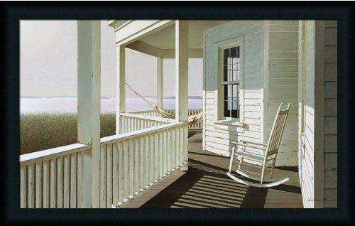 Morning Light Rocker By Zhen-Huan Lu Rocking Chair On Porch 33X21 Wall Art Print Picture Framed front-1002218