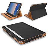 "MOFRED® Black & Tan Apple iPad Air 2 (Launched Oct. 2014) Leather Case-MOFRED®- Executive Multi Function Leather Standby Case for Apple New iPad Air 2 with Built-in magnet for Sleep & Awake Feature -- Independently Voted by ""The Daily Telegraph"" as #1 iPad Air 2 Case!"