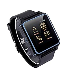 Smartwatch W08 Patented Bluetooth Tri-proof Fitness Sports Action, Phone Calling Watch for  Dual Systems-Blue
