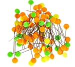 TECH-P Quilting Quilter's 2.0'' Flower Head Pins Boxed 100 Counts- Assorted Color