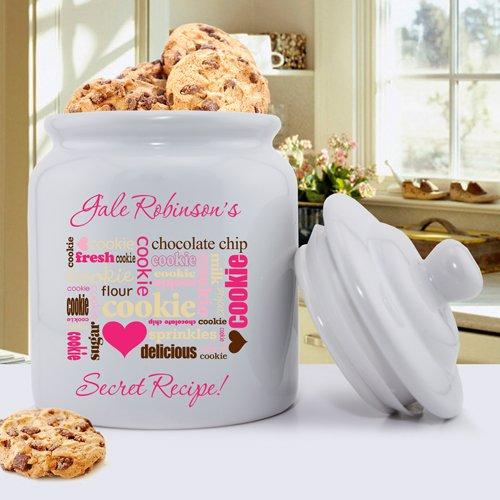 Personalized Ceramic Cookie Jar (Secret Recipe)