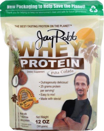 Jay Robb Whey Protein Isolate Pina Colada 12 oz