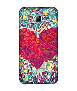 small candy 3D Printed Back Cover For Samsung Galaxy On7 -Multicolor pattern