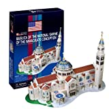 Ezhishop Basilica of the National Shrine of the Immaculate Conception DIY 3D Puzzle Model Toy- 44 Pieces by Ezhishop