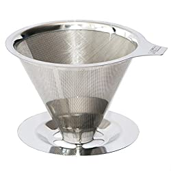 Cafellissimo Drip Coffee Maker - Pour Over Coffee Maker - Stainless Steel Fine Mesh Strainer - Fresh Coffee Brewer - Reusable, No Paper Filters - Makes 2 Cups of Coffee from usAList
