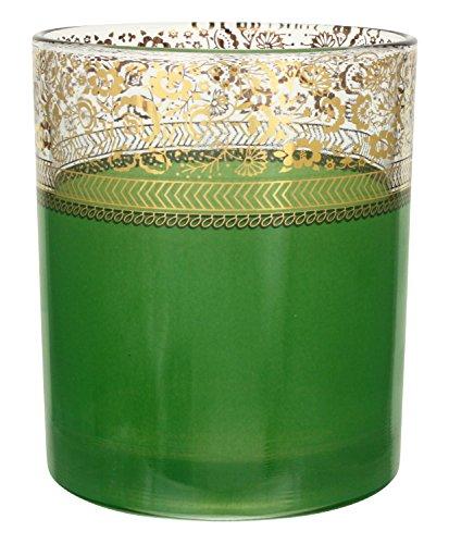 Patina Vie Lime Sour Rocks Glass, Green/Gold, Set of 4