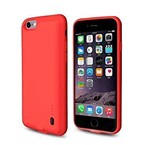 """ROOP iPhone 6/6S Battery Case Ultra Slim Charging Case Cover with High-Capacity 2,000mAh Battery for iPhone 6/6S (4.7"""" red)"""