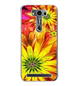 Bright Yellow Pattern 2D Hard Polycarbonate Designer Back Case Cover for Asus Zenfone 2 Laser ZE500KL (5 INCHES)