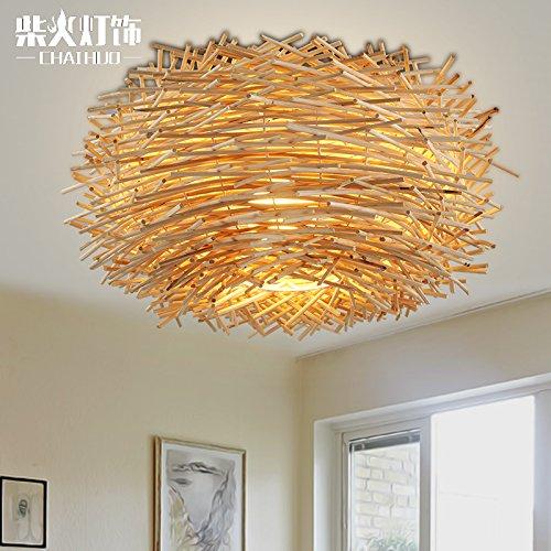 BLYC-Innovative-US-amerikanischer-Country-Schlafzimmer-Decke-Lampe-Rattan-Vogels-Nest-Esszimmer-Dach-Lampe-auf-Beleuchtung-350mm