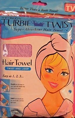 The Original Turbie Twist, Super Absorbent Hair Towel, (Colors may vary)