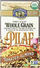 Lundberg Toasted Almond Whole Grain Brown Rice Pilaf 6 Ounce Pack of 6