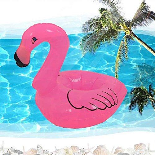 Zenboo Pink Flamingo Super Cool Inflatable Drink Holder (5 Pack)