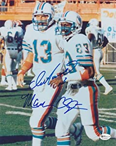 Dan Marino and Mark Clayton DUAL Autographed Hand Signed Miami Dolphins 8x10 Photo -... by Real Deal Memorabilia