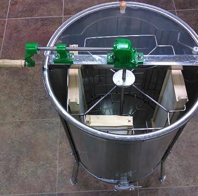 New Four 4 to Eight 8 Frame Stainless Steel Bee Honey Extractor Honeycomb Spinner 304 SS VIVO Model (BEE-V004)