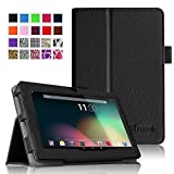 Fintie Dragon Touch 7'' Y88X / Y88 Folio Case - Premium Vegan Leather Cover with Stylus Holder for Dragon Touch 7'' Dual Core Y88X /Y88 Google Android Tablet(will not fit Dragon Touch A7) - Black