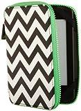 PUNCHCASE - Ace Zip Around - Housse - Chevron noir et blanc [est compatible avec Kindle (5�me et 7�me g�n�ration), Kindle Paperwhite (5�me et 6�me g�n�ration), et Kindle Touch (4�me g�n�ration)]