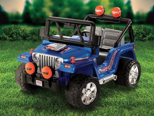 power wheels hot wheels jeep wrangler fisher price power. Black Bedroom Furniture Sets. Home Design Ideas