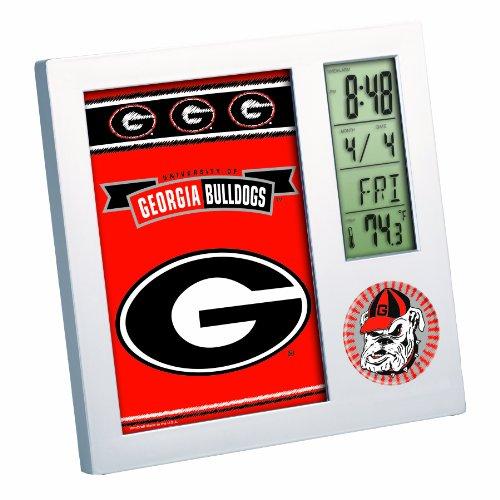 NCAA Georgia Bulldogs Digital Desk Clock
