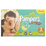 Pampers Baby Dry Size 3 (Midi) Large Pack 136 Nappies