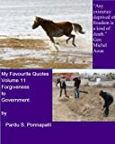 img - for My Favourite Quotes Volume 11: Forgiveness to Government book / textbook / text book