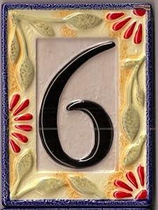 """Grasslands Road Ceramic Magnetic Morning Song Pattern House Tile """"6"""""""