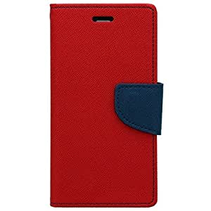 STAPNA Mercury Goospery Wallet Diary Faux Leather flip Cover with stand for Lyf Wind 6 (Red)