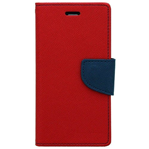 Acase Luxury Mercury Diary Wallet Style Flip Case Cover For Samsung Galaxy S Duos 2 S7582 -(RED)  available at amazon for Rs.245