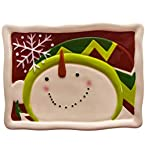 Earthenware Snowman Appetizer Plate