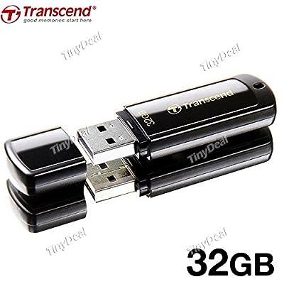 TRANSCEND JF350 Classic 32GB USB 2.0 U Disk USB Flash Drive USB Pen Drive - Piano Black EUD-319929