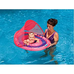 swimways baby spring float with sunshade. Black Bedroom Furniture Sets. Home Design Ideas