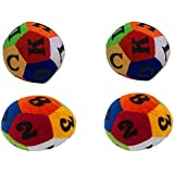 Deals India Numeric Soft Toy Ball (Set Of 2) And Deals India Alphabet Soft Toy Ball (Setof 2) Combo