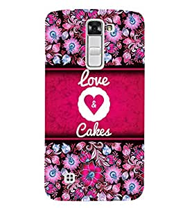 Love And Leashes 3D Hard Polycarbonate Designer Back Case Cover for LG K7 4G Dual