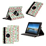 Neotechs® Vintage Owl Print Leather Rotating 360 Stand Case Cover Wallet for Amazon Kindle Fire HD 2nd Gen 2013