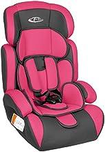 TecTake Silla de coche para niños - Grupos 1/2/3 pesos de 9-36 kg rosa/gris