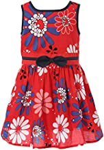 Richie House Little Girls39 Sleeveless Dress with Floral Print Size 24M-10 RH1806