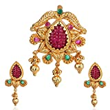Violet and Purple Alloy Gold Plated Pendant Set for Women (1000031202)