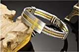 Magic Stones Gold Plated Rhodium Coated Bracelet For Men - BR005