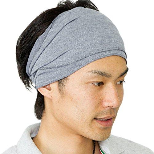 日本製 ターバンの存在感を簡単に再現 フィット感にも優れた快適さ ツイストターバンヘアバンド 灰