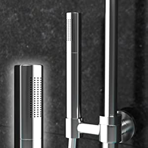 Design Handbrause Stabhandbrause Mikrofon Brause massives Messing