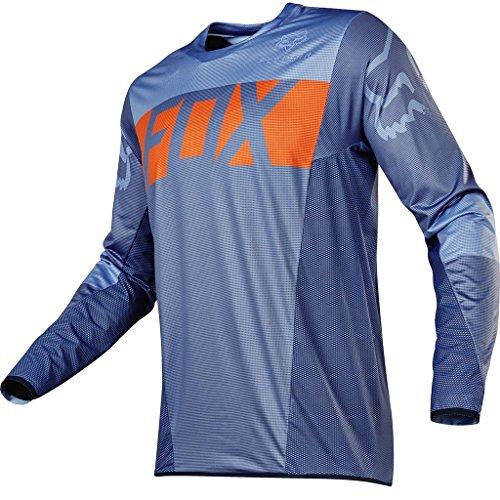 2017 FOX Flexair Libra MX Motocross Men Long Sleeves Jersey - Orange / Blue (Fox Headline compare prices)