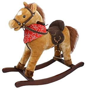 Cowboy Boys Rocking Horse - Tan Brown