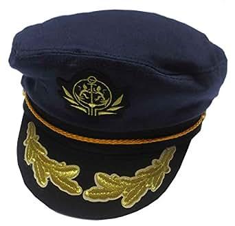 Capas Adjustable Flagship Captain Yacht Cap, Navy at Amazon Men's